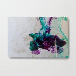 Purple, Teal, Green, Gold I Metal Print