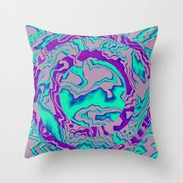 Wave trance Throw Pillow