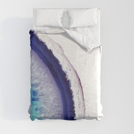 Violet Agate Art 2 Comforters