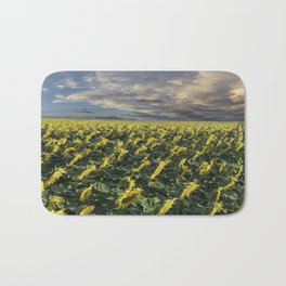 Sunflower Field Bath Mat