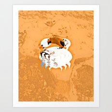 the little crab Art Print