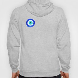 Single Evil Eye Amulet Talisman Ojo Nazar - on black Hoody