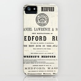 Lawerence's Medford Rum iPhone Case