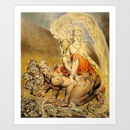 William Blake - The Whore of Babylon Art Print
