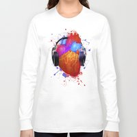 coldplay Long Sleeve T-shirts featuring No Music - No Life by Sitchko Igor