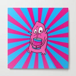 Pink Beans Metal Print