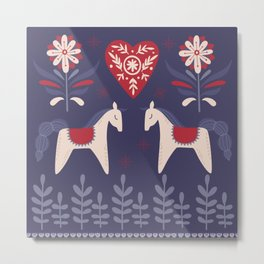 Swedish Christmas Metal Print