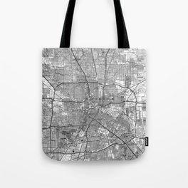 Houston Texas Map (1992) BW Tote Bag