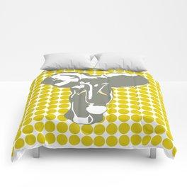Golden Poppy Safari Dot with Pop Art Elephant Comforters