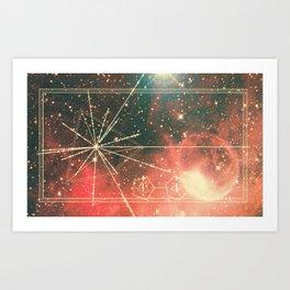 Pulsar Map Art Print