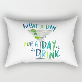 What a Day for a Day Drink – Blue & Green Palette Rectangular Pillow