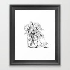 Rose flowers bouquet in a jar Framed Art Print
