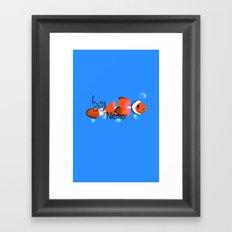 frying nemo Framed Art Print
