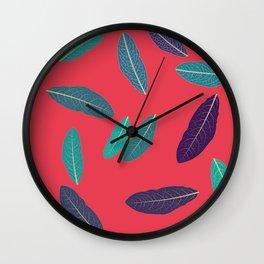 Pink Fall Wall Clock