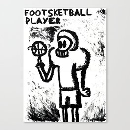 Footsketball Player Canvas Print