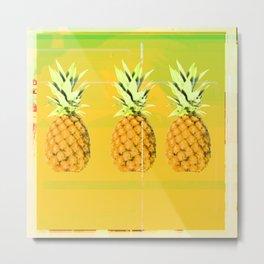 Pineapple smoothie Metal Print