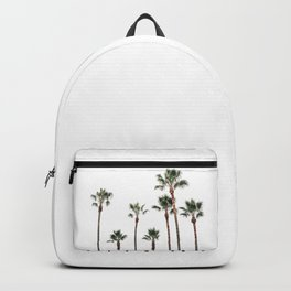 Palm Trees on the Coast White  Backpack