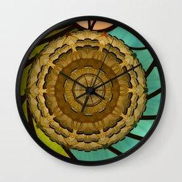 Kaleidoscope dream green Wall Clock