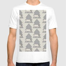 Pattern Reno White MEDIUM Mens Fitted Tee