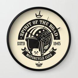 Motorcycle Club Helmet Wall Clock