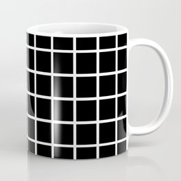 Back to School - Simple Grid Pattern - Black & White - Mix & Match  with Simplicity of Life Coffee Mug