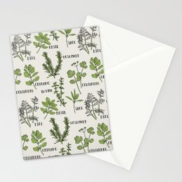 Herb and Seasoning Stationery Cards