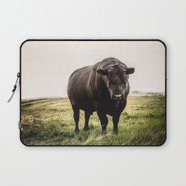 Big Black Angus Bull Laptop Sleeve