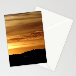 Coney Island sunset Stationery Cards