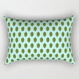 Hops Light Cyan Pattern Rectangular Pillow