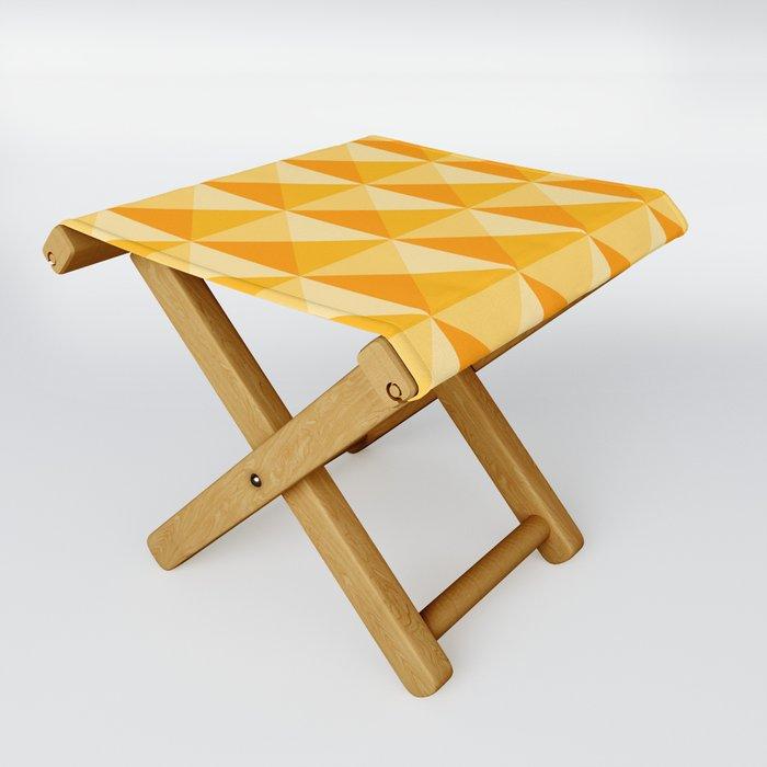 Geometric Prism in Sunshine Yellow Folding Stool