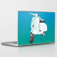 vespa Laptop & iPad Skins featuring Vespa by Frivolous Designs