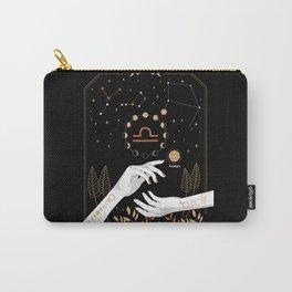 Libra Zodiac Theme Carry-All Pouch