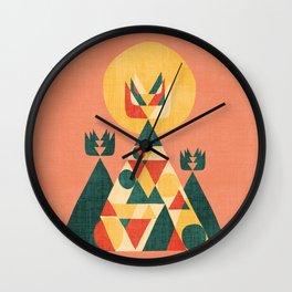 Sunset Tipi Wall Clock