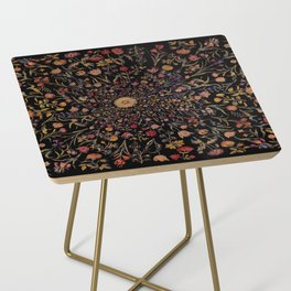 Medieval Flowers on Black Side Table