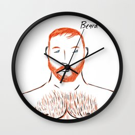 Beard Boy Flame 1 Wall Clock