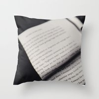 letters Throw Pillows featuring Letters by Sarah L. Hurd