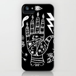Spiritual Hand Black and White iPhone Case