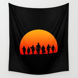 Western Sunset Wall Tapestry