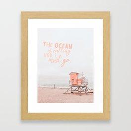 Ocean Is Calling Framed Art Print