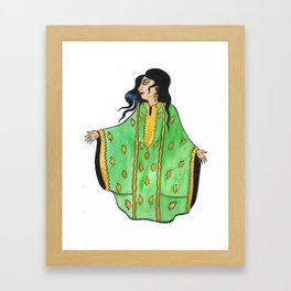 Woman In Green Thobe Framed Art Print