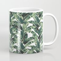 banana leaf Mugs featuring BANANA LEAF by bows & arrows