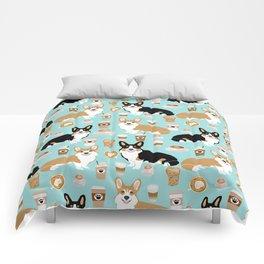 Corgi coffee welsh corgis dog breed pet lovers corgi crew Comforters