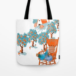 Farm Animals in Chairs #4 Chicken Tote Bag