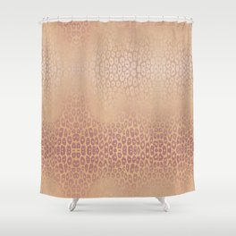 Gold Pink Leopard Shower Curtain