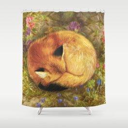 The Cozy Fox Shower Curtain