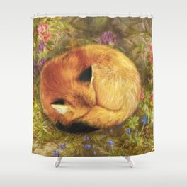 The Cozy Fox Shower Curtain