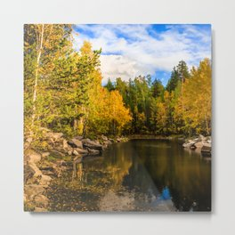 Autumn, Hidden Lake Metal Print