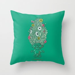 Troll of Nature Throw Pillow