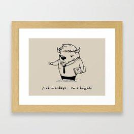 I'm a buffalo Framed Art Print