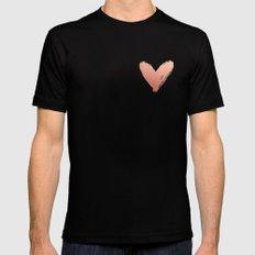 heart of rosegold Black MEDIUM Mens Fitted Tee